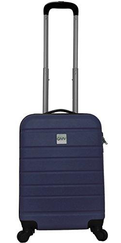 Hard Shell ABS 4 wheel Spinner Lightweight Hand Luggage Cabin Travel Trolley (Night Blu)