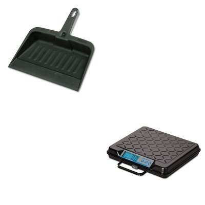 KITRCP2005CHASBWGP100 - Value Kit - Salter Brecknell Portable Electronic Utility Bench Scale (SBWGP100) and Rubbermaid-Chrome Heavy Duty Dust Pan (RCP2005CHA) by Salter Brecknell