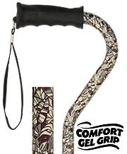 Bahama Leaf Adjustable Walking Cane-Gel Grip