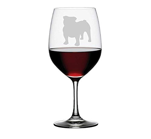 (Bulldog Etched Glass Choice of Pilsner, Beer Mug, Pub, Wine Glass, Rocks, 1 each of a Moose, Bear, Wolf, Deer Etched)