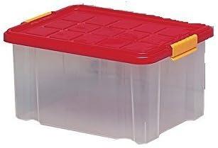 MM Spezial 364100 Euro Caja con Tapa, plástico, Rojo, 44 x 35 x 24 ...