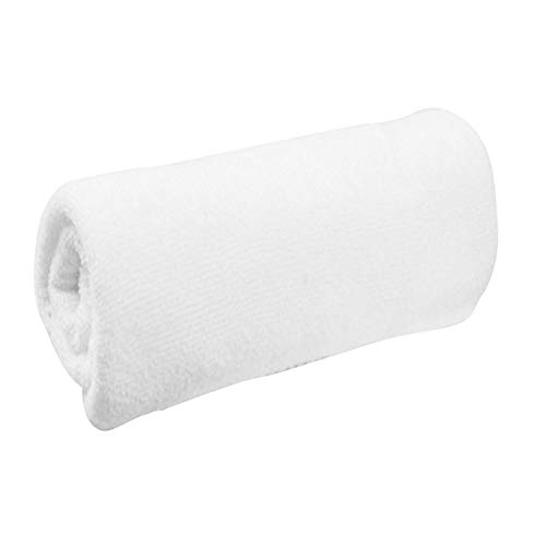 Povkeever Luxury White Bath Towels Large - Egyptian Cotton Highly Absorbent Hotel Spa Collection Bathroom Towel 30x60cm