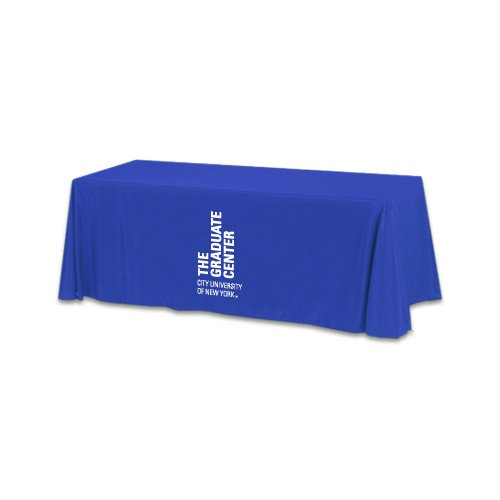 CUNY Graduate Center Royal 6 foot Table Throw 'Official Logo' by CollegeFanGear