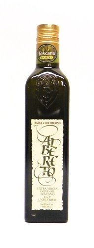 Badia a Coltibuono Albereto Unfiltered 100% Organic Extra Virgin Olive Oil 16.9 oz (Pack of 2)