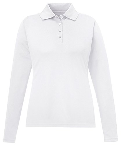 Core 365 Pinnacle Ladies Performance Pique Polo Shirt, WHITE 701, X-Large (Pique Golf Polo Womens)