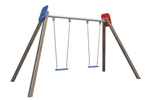 precios ultra bajos - - - Columpio doble rojo azul - para público Parques infantiles & Equipamientos  el más barato