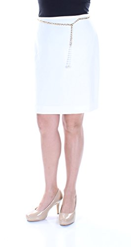 Tahari ASL Petite Chain Belt Pencil Skirt
