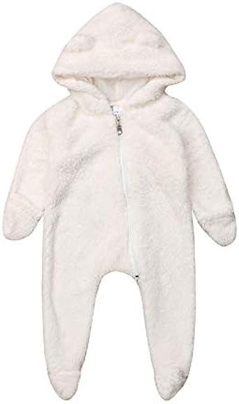Mameluco Invierno Bebé con Capucha Oso Pijamas Entero Recién Nacido Bebé Niña Cuerpo Oso Bebé Niño Recién Nacido