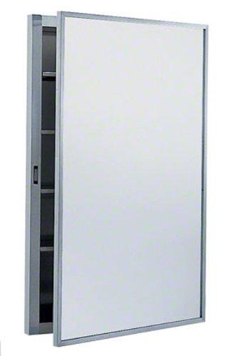 (Bobrick 299 304 Stainless Steel Surface-Mounted Medicine Cabinet, Satin Finish, 17
