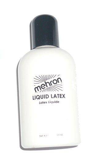[117 (4.5oz, White/Clear) Mehron Liquid Latex] (Costume Makeup Wax)