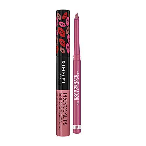 Rimmel Long Lasting Lip Kit with Exaggerate Full Colour Lip