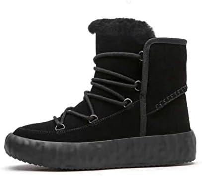 メンズ雪のブーツは、耐摩耗性ノンスリップゴム底防水牛ベルベットのアッパー暖かい豪華な裏地綿のブーツダウン (色 : 黒, サイズ : 25 CM)