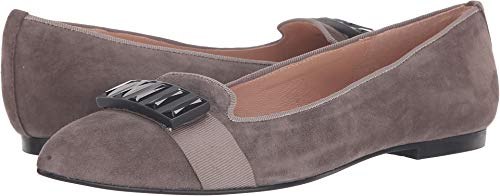 Flats French Sole Suede (French Sole Women's Chop Flat Grey Suede 9.5 M US M)
