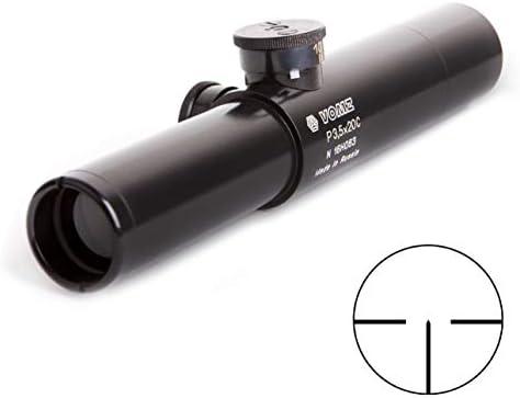 BelOMO Pilad P3.5x20C Compact Russian Optical Rifle Scope. PU. Fixed Magnification