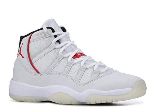 Jordan Kid's Air 11 Retro GS, Platinum Tint/SAIL-University RED, Youth Size 5 by Nike (Image #1)