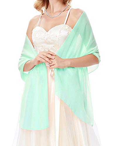 Mint Green Shawls for Evening Dresses
