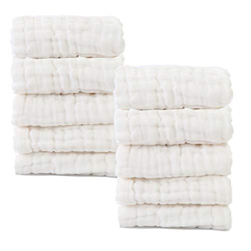 Baby Muslin Washcloths Natural