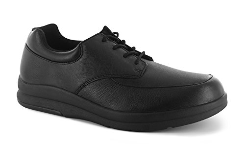 P W Minor Pace Walker Mens Therapeutic Casual Extra Depth Shoe Leather Lace-up Black LaKgsEeKd4
