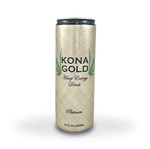 31lQ4utVuyL - Kona Gold Platinum Hemp Energy Drink 12.0 Fluid Ounces, Pure Sugar Cane, Organic Hemp, 12 Pack