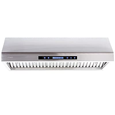 """CAVALIERE 42"""" Under Cabinet / Wall Mounted Stainless Steel Kitchen Range Hood w/Remote Control 900 CFM AP238-PS61-42"""