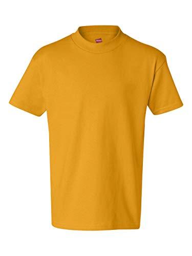Hanes boys Cotton T-Shirt(5450)-Gold-XS