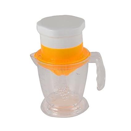 DealMux plástico de cocina multifunción Exprimidor Manual 600 ml Extractor de Jugos