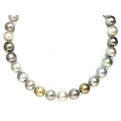 Tahitian South Sea Pearl Necklace for Women 15-14 MM Fancy Pastel Multicolor 18