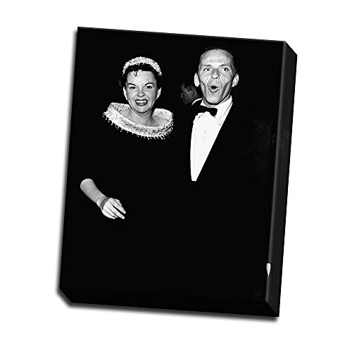 wallsthatspeak Comical Candid Portrait of Frank Sinatra and Judy Garland Printed on 8x10 Canvas Wall Art by Movie Star News