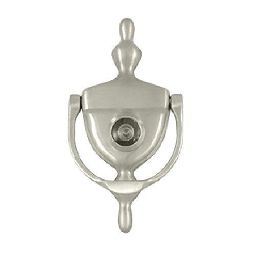 (Deltana DKV630U15 Door Knocker with Viewer 1-3/4-Inch Max Door Thickness Color: Satin Nickel Model: DKV630U15)