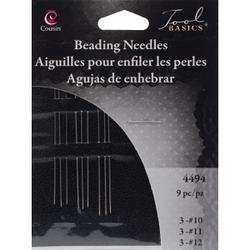 Bulk Buy: Cousin Craft & Jewelry Beading Needles 9/Pkg 3 each of #10#11#12 4494 (12-Pack) by Cousin Beads