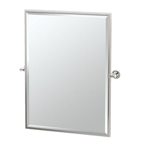 Gatco 4129FS Tavern Framed Large Rectangle Mirror, Polished Nickel