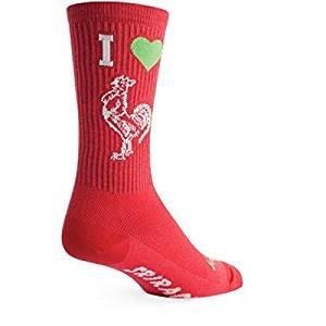 SockGuy, Crew Socks, 7.5-Inch Cuff Height -Small/Medium, Tuo Ot Sriracha (Sriracha Socks)