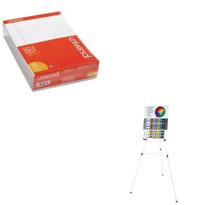 KITQRT55EUNV20630 - Value Kit - Quartet Heavy-Duty Telescoping Tripod Easel (QRT55E) and Universal Perforated Edge Writing Pad (UNV20630) by Quartet