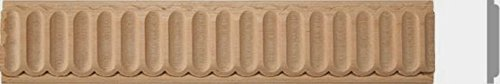 1-1/2''w, 2''w X 8ft.,10pc,Total 80ft, Fluted Maple Beech Wood Molding Moulding Trim (1-1/2''W X 1/4''TH X 8'L, Maple) by Zakros Design
