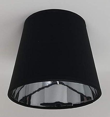 Pantalla para lámpara de techo de tela, color negro, con ...