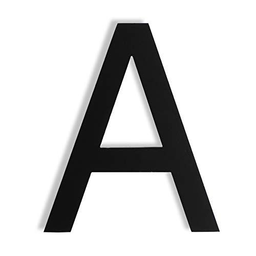 Mellewell Floating House Letters 5 Inch Stainless Steel Black, Comtemporary Style, Letter A, HN05HB-A