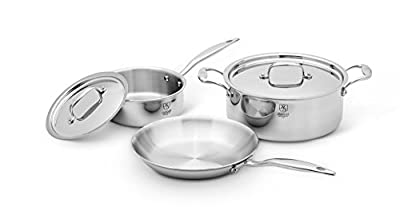 American Clad 7-Ply with 316Ti 5 Piece Cookware Set, Stainless Steel
