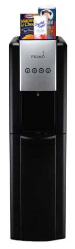 Primo Black Professional 1 Spout Bottom Load Hot and Cold Water Cooler Dispenser with Capacitive Touch