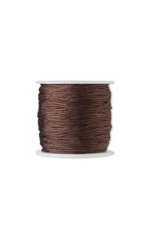 100 Feet of 1mm Imitation Silk Beading Cord~Macrame Cording for Beads & Jewelry (Dark ()