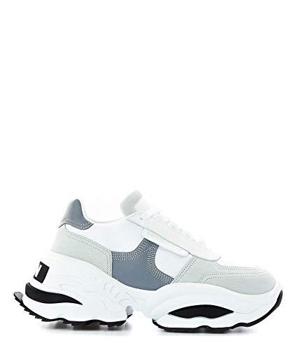 Blanco Snw006101601682m1616 Zapatillas Cuero Dsquared2 Mujer gxP8qwwZH