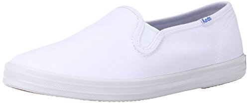 Keds Champion Canvas Sneaker (Keds Women's Champion Original Basic Canvas Slip-On,White Canvas,8 M)