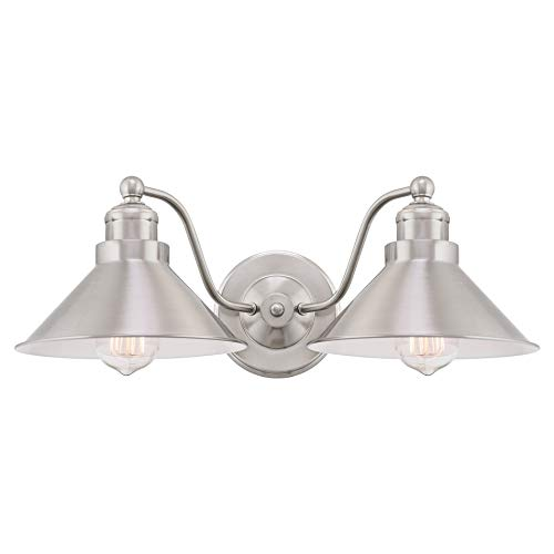 Brushed Single Light Nickel - Kira Home Welton 19