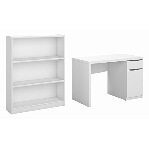 Bush Furniture Montrese Computer Desk and Bookcase Set in