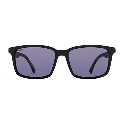VonZipper Mens Pinch VP3 Tri-Motion Polarized Sunglasses, Pinch Black Smoke Satin / Wildlife Vintage Gray Polarized Lens, One Size Fits - Seattle Sunglasses Prescription