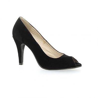 ccaacfdc8c197 Vidi studio Escarpins Cuir Velours Noir - 41  Amazon.fr  Chaussures ...