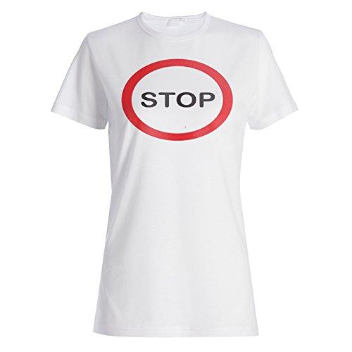 Stoppschild Funny Vintage cal Damen T-shirt c643f
