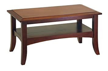 Great Winsome Wood Craftsman Coffee Table, Antique Walnut