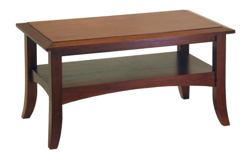 Winsome Wood Craftsman Coffee Table, Antique Walnut