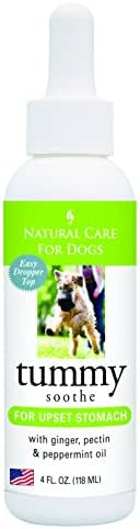 Natural Care for Dogs; Tummy Soothe for Upset Stomach with Ginger, Pectin and Peppermint Oil; 4 fl. oz