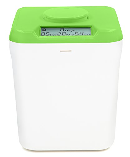 Kitchen Safe: Time Locking Container (Green Lid + White Base) - 5.5